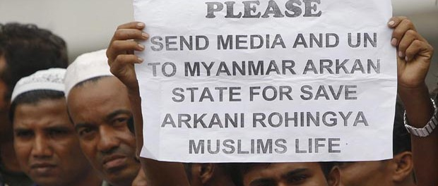 A-Myanmars-ethnic-Rohingya-Muslim-in-Malaysia-holds-a-placard